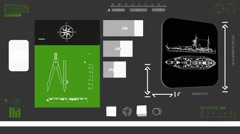 Army Ship - Coding Info - green 02 Stock Footage