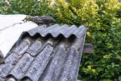 Roof asbestos Stock Photos