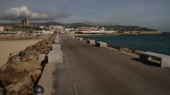 Punta de Tarifa, Spain, Andalusia, The southest point of Europe. Stock Footage