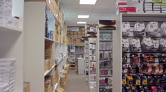 Movement between the shelves in the store Stock Footage