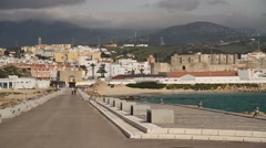 Punta de Tarifa, Spain, Andalusia. The southest point of Europe. Stock Footage