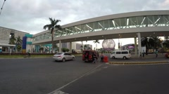 Overpass Entrance leading to Mall of Asia SM Stock Footage