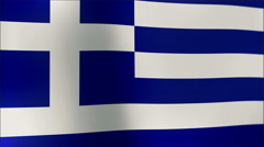 Greek flag waving in the wind. Part of a series. 4K resolution Stock Footage