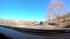 View from the dashboard camera while driving. Stock Footage