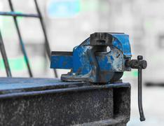 old rusty iron grip - stock photo