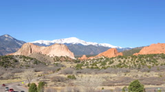 Garden of the Gods at the end of the Winter. Stock Footage
