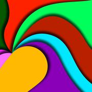 Beautiful wavy background design Stock Illustration