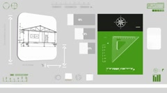 Stock Video Footage of House - Construction plan - green 01