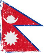 Nepal Vector Flag on White - stock illustration