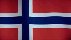 Flag of Norway waving in the wind. Seamless loop with high quality fabric Stock Footage