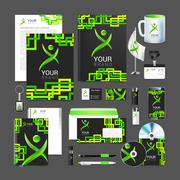 Vector Blank trade exhibition, with global social networking identity background Stock Illustration