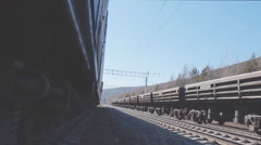 movement of trains on the railway - stock footage