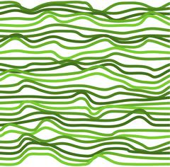 Seamless abstract background of green wavy lines pattern Stock Illustration