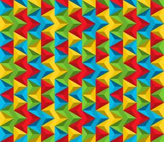 Seamless abstract pattern made of triangles in vivid colors - stock illustration