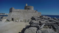 Fortress in Rhodes island, 4K Stock Footage
