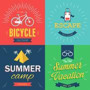 Summer Poster - stock illustration