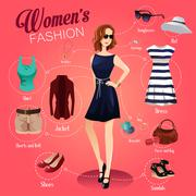 Women Fashion - stock illustration
