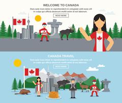 Welcome To Canada Banners Stock Illustration