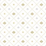 Seamless Vector Pattern With Royal Lily Stock Illustration