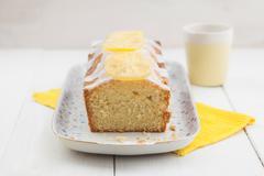 Lemon pound cake Stock Photos