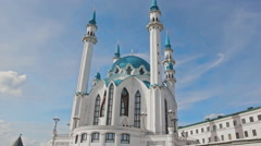 Kazan kul-sharif mosk time-lapse front Stock Footage