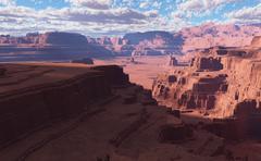 3D Fantasy desert landscape - stock illustration