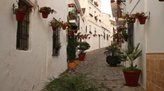 Traditional spanish city, Estepona, Andalusia, Spain, street, history district Stock Footage