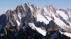French Alps Mountains Chamonix, France 5K HD Stock Footage Stock Footage