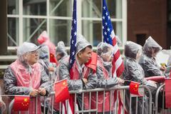 A peaceful demonstration of Chinese activists in Washington - stock photo