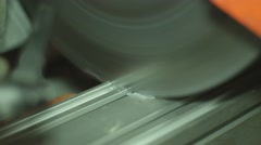 Metal cutting with circular saw - stock footage