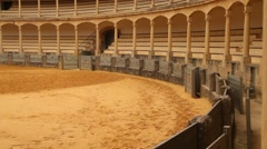 Arena for bull fights in Ronda, Spain, Andalucia - stock footage