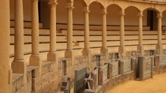 Arena for bull fights in Ronda, Spain, Andalucia Stock Footage