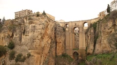 Bridge in Ronda, Spain, Andalucia Stock Footage