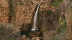 Waterfall in Ronda, Andalusia, Spain, rocks, mountains Stock Footage