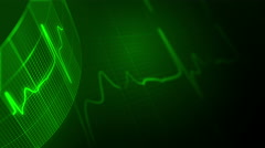 Heart rate background. LOOP. - stock footage
