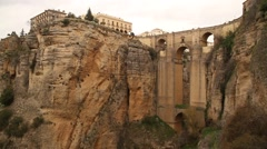Bridge in Ronda, Spain, Andalucia - stock footage