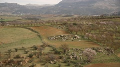 Mountain villages in Andalusia near Ronda city, spring, mountains, Europe - stock footage