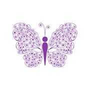 Amazing fly butterfly. Vector - stock illustration