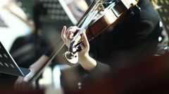Violin at a concert Stock Footage