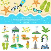 Stock Illustration of Concept Bali Travel