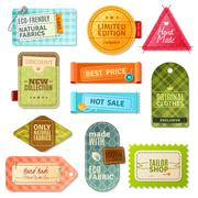 Fabric Label Set Stock Illustration