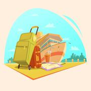 Stock Illustration of Voyage Cartoon Concept