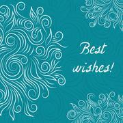 Creative Turquoise Elegant Vector Card - stock illustration