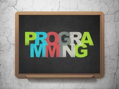 Programming concept: Programming on School board background - stock illustration