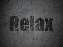 Holiday concept: Relax on grunge wall background - stock illustration