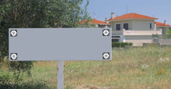 Blank sign of real estate advert - stock footage