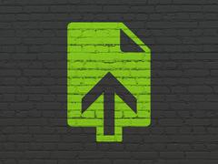 Web design concept: Upload on wall background Stock Illustration