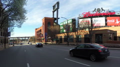 Driving by Busch Stadium in St. Louis Stock Footage