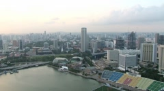 View to the modern buildings of the city in Singapore, Singapore. Stock Footage