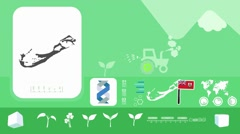 Bermuda - Agriculture - Vector Animation - green - stock footage